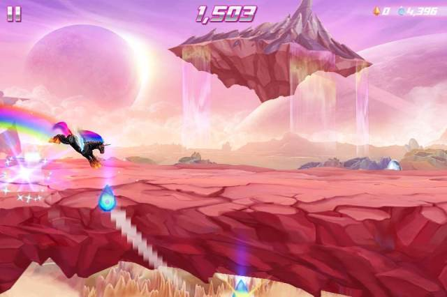Felt really badass being able to screenshot Robot Unicorn 2 during gameplay